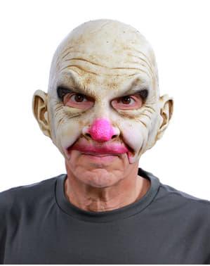 Máscara de payaso calvo UV glow para adulto