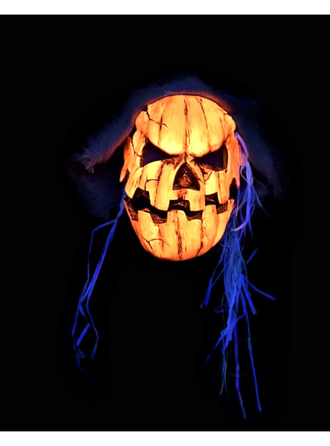 Maska przerażającej dyni ultrafiolet dla dorosłych