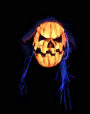 Masque citrouille terrifiante UV glow adulte