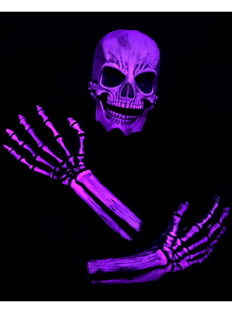 Pink skeleton kit for adults UV glow