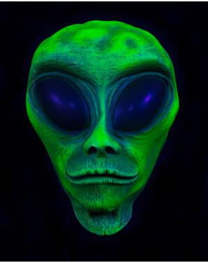 Groot Alien hoofd decoratief figuur UV glow