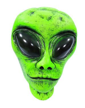 Dekorationsfigur Alienhuvud som lyser med i mörkret