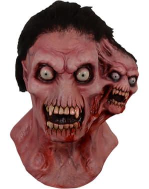 Máscara de monstro de duas cabeças para adulto