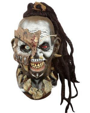 Máscara de sacerdote vudú de media cara para adulto