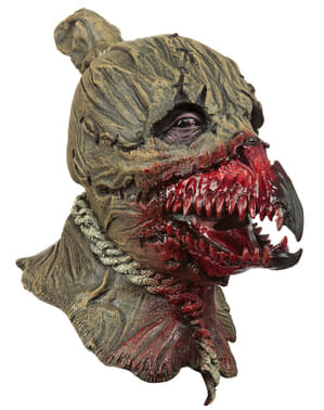 Máscara de espantapájaros cuervo para adulto