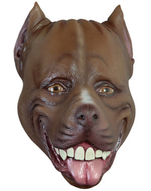 Máscara de perro Pitbull para adulto
