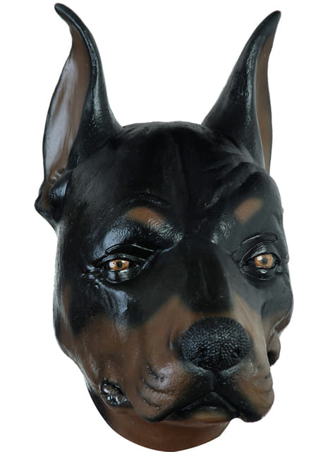 Máscara de perro Doberman para adulto