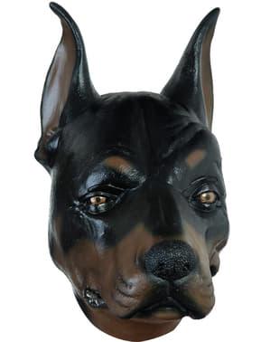Máscara de cão Doberman para adulto