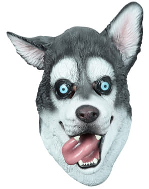 Máscara de cão Husky para adulto