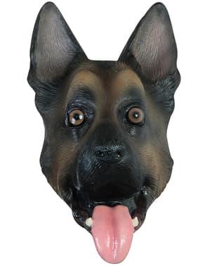 Máscara de cão Pastor Alemão para adulto