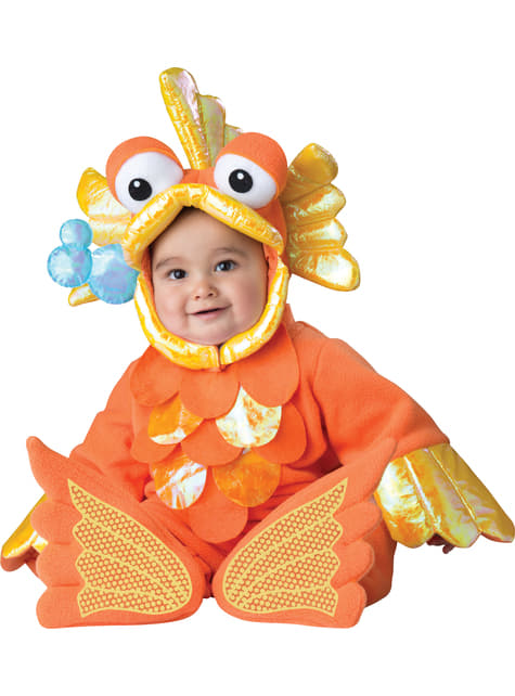 Maskeraddräkt guldfisk för bebis
