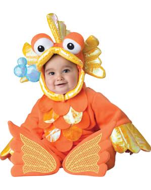 Costum de peștișor auriu pentru bebeluși