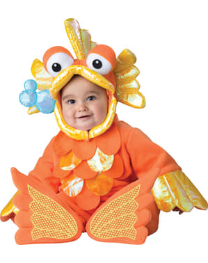Fato de peixe dourado para bebé