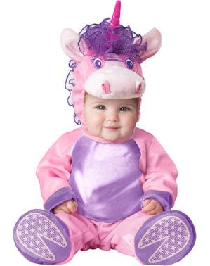 Розов костюм за еднорог за бебета