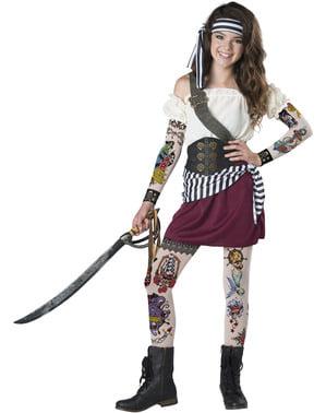 Piratin Kostüm für Jugendliche