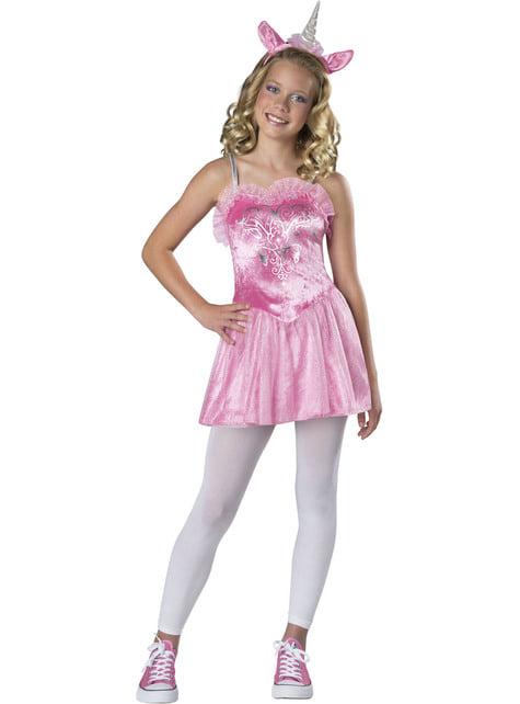 Einhorn Kostüm rosa für Jugendliche