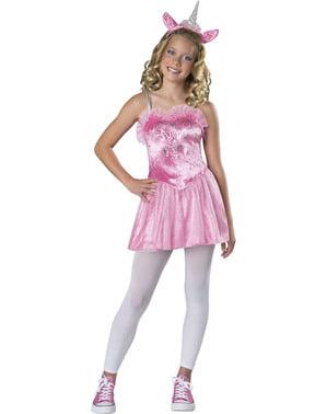 Fato de unicórnio rosa para adolescente