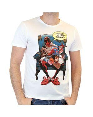 デッドプール男性用リラックスTシャツ
