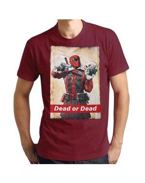 T-shirt  Deadpool Dead or Dead per uomo