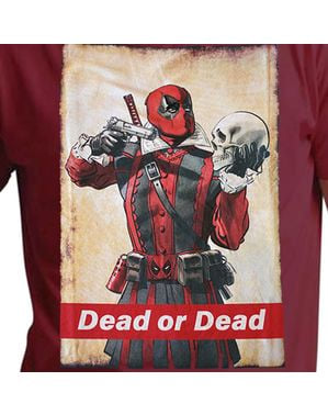 T-shirt Deadpool Dead or Dead homme
