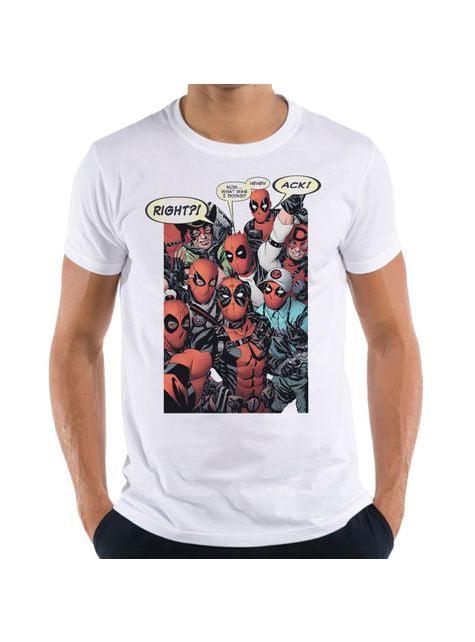 T-shirt Deadpool Group Cosplay para homem