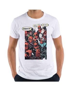 男性用グループコスプレデッドプールTシャツ