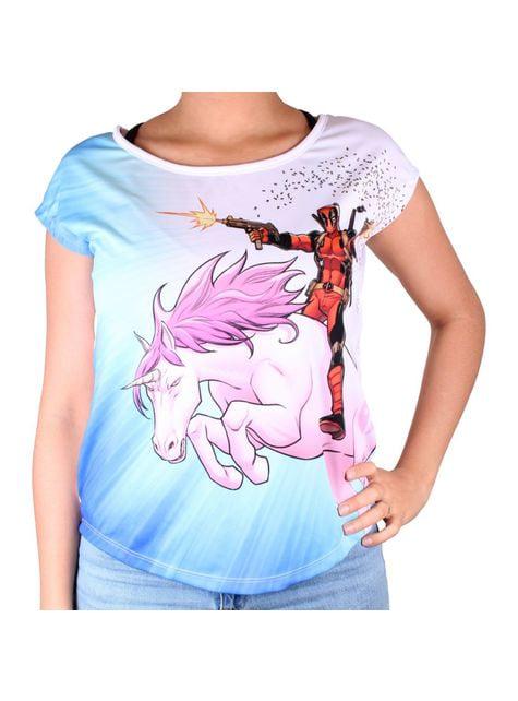 Camiseta Deadpool Unicornio para mujer