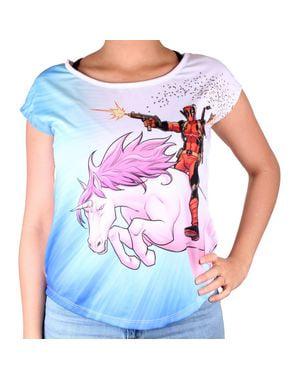 女性用ユニコーンデッドプールTシャツ