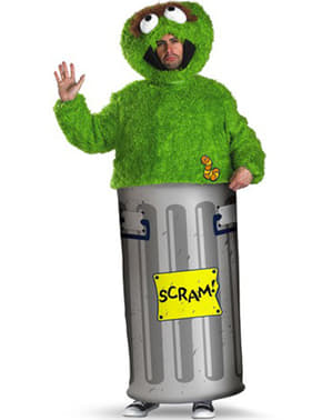 Oscar the Grouch costume for adults - Sesame Street