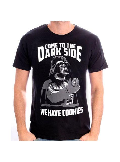 男性のためのダースベイダークッキースターウォーズTシャツ