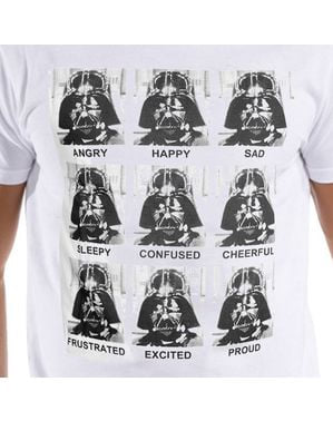男性のためのダースベイダー感情スターウォーズTシャツ