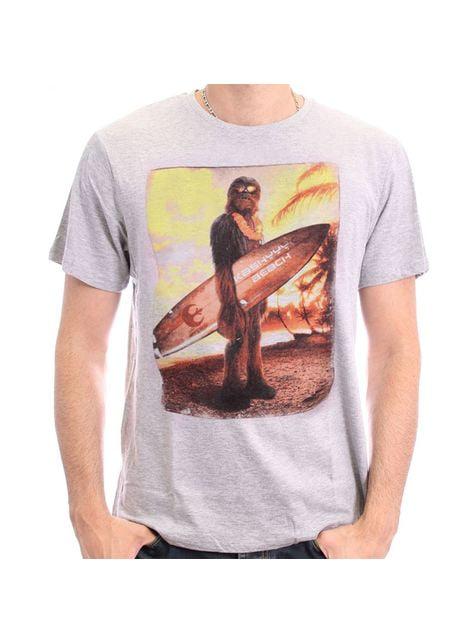 Chewbacca Beach Star Wars t-shirt for men