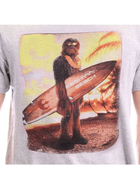 T-shirt de Chewbacca Beach para homem - Star Wars