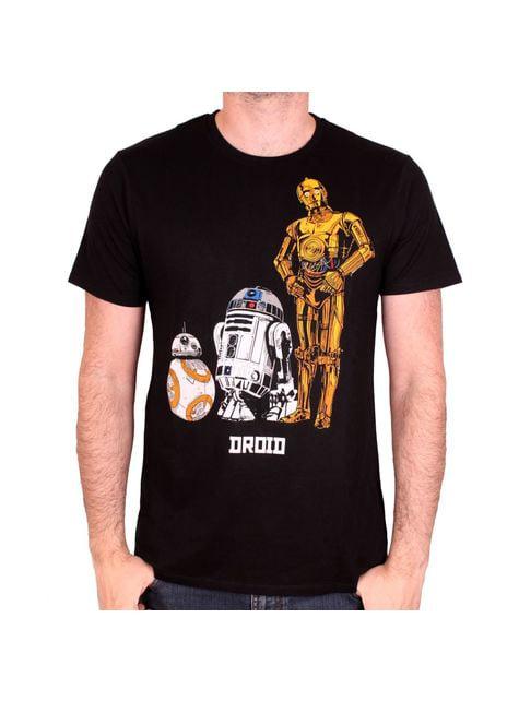 T-shirt Star Wars Droides para homem