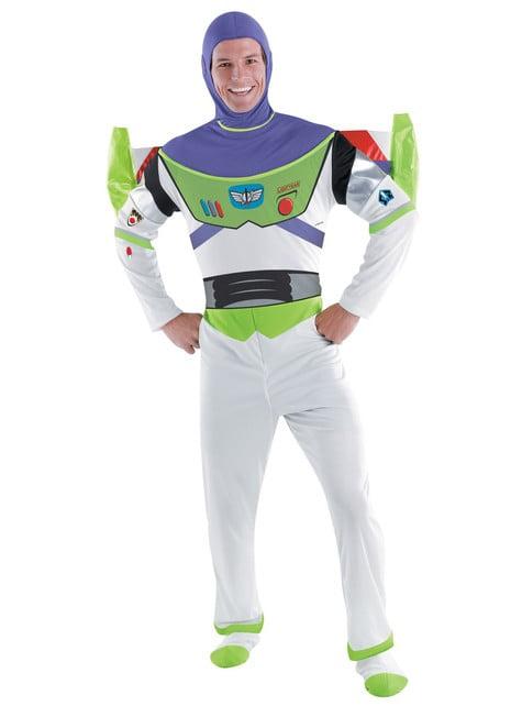 Fato de Buzz Lightyear deluxe para adulto