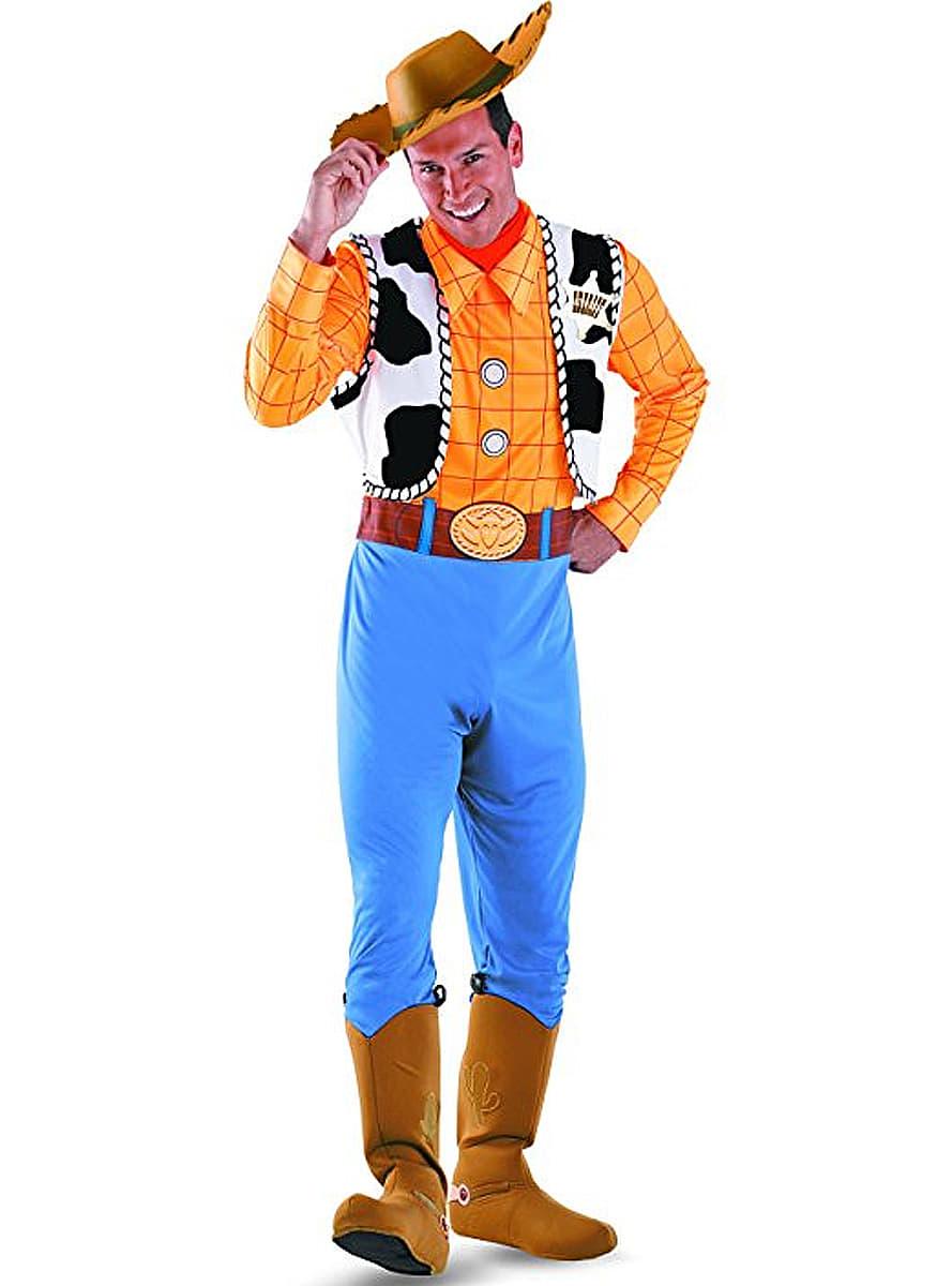 00d3a3e41e4f5 Fato de Woody Toy Story deluxe para adulto