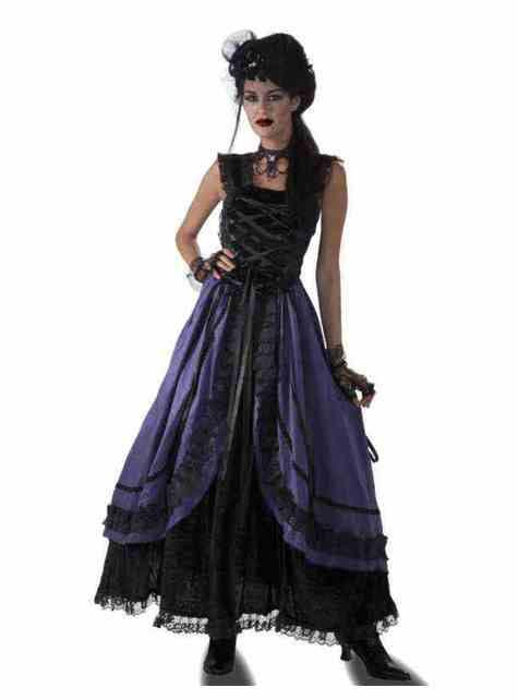 Déguisement gothique violette femme