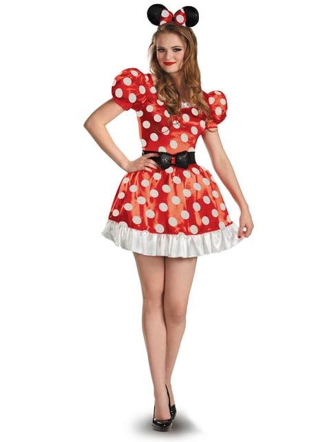 Fato de Minnie Mouse vermelha para mulher