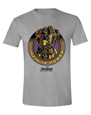 男性のためのグレーのインフィニットパワーTシャツ - アベンジャーズ:インフィニティ戦争