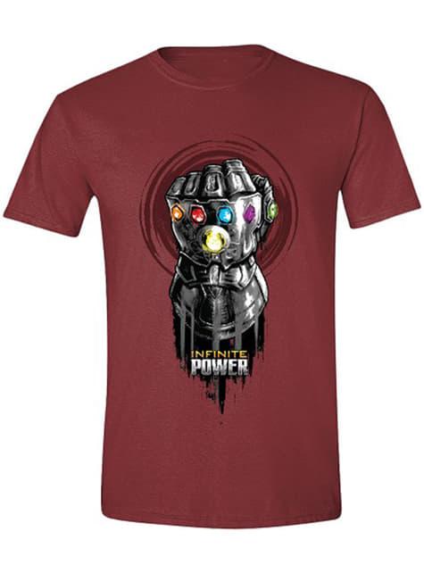 Thanos Infinity Gauntlet T-Skjorte til Menn i Rødbrun - Avengers Infinity War