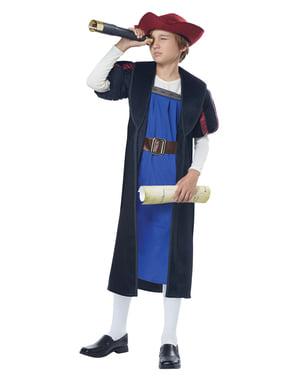 Fato de Cristóvão Colombo para menino