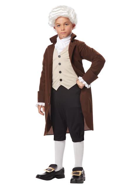 Disfraz de Benjamín Franklin para niño