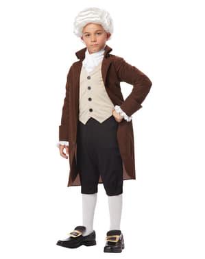 Benjamin Franklin kostuum voor jongens