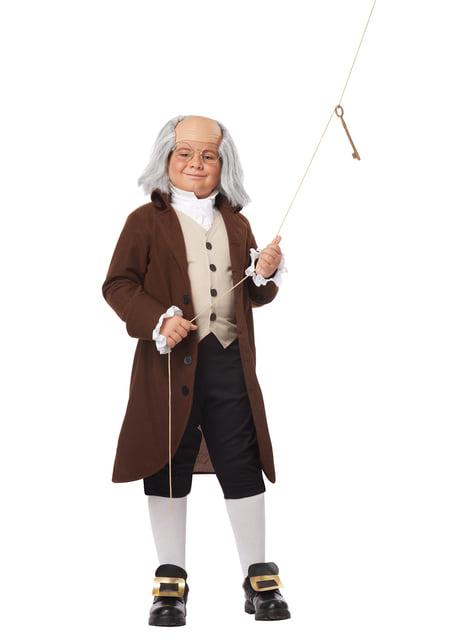 Disfraz de Benjamín Franklin para niño - infantil