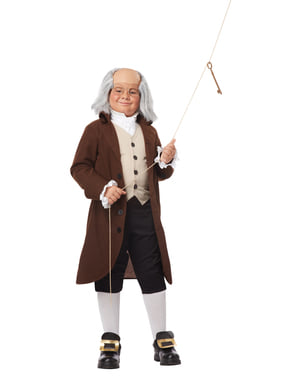 Costum Benjamin Franklin pentru băiat