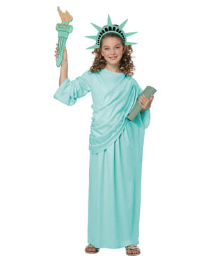 Fato da Estátua da Liberdade para menina