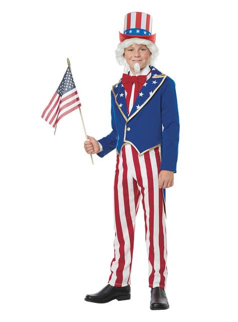 Chlapecký kostým Uncle Sam