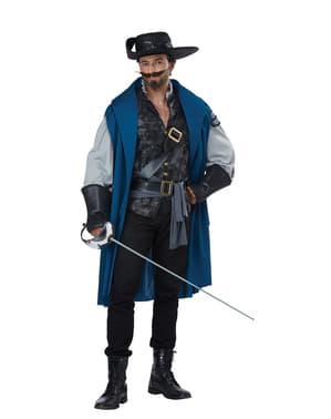 Maskeraddräkt musketör vuxen