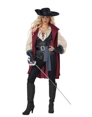 Musketier kostuum voor vrouw