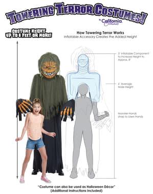 Fato de monstro abóbora gigante para adulto